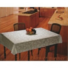 "54"" x 78"" Anokha  Lace Vinyl Dining Tablecloth (Blue)"