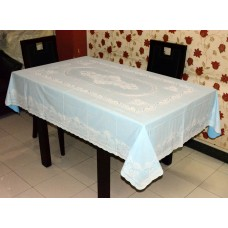 "54"" x 76"" Lacecraft Lace Vinyl Dining Tablecloth (Blue)"