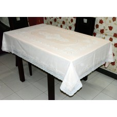 "54"" x 76"" Lacecraft Lace Vinyl Dining Tablecloth (Peach)"