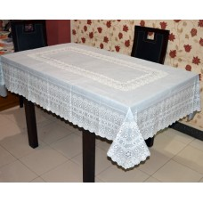 "54"" x 78"" Anokha  Lace Vinyl Dining Tablecloth (Grey)"