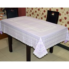 "54"" x 78"" Anokha  Lace Vinyl Dining Tablecloth (Violet)"