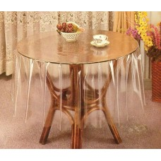 "54"" (Diameter) Clear Transparent Round Table Cover"