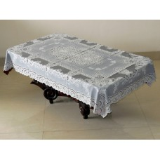 "36"" x 54"" Fancy Lace Vinyl Tablecloth (Brown)"