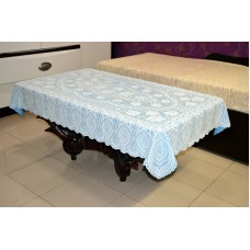 "36"" x 54"" Crosia Lace Vinyl Centre Tablecloth (Blue)"