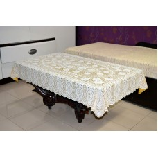 "36"" x 54"" Crosia Lace Vinyl Centre Tablecloth (Gold)"