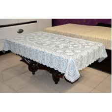 "36"" x 54"" Crosia Lace Vinyl Centre Tablecloth (Grey)"