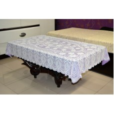 "36"" x 54"" Crosia Lace Vinyl Centre Tablecloth (Violet)"