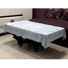"36"" x 54"" Fancy Lace Vinyl Tablecloth (Blue)"
