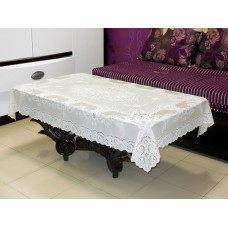 "36"" x 54"" Fancy Lace Vinyl Tablecloth (Gold)"