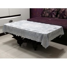 "36""x54"" Fancy Lace Vinyl Centre Tablecloth (Grey)"
