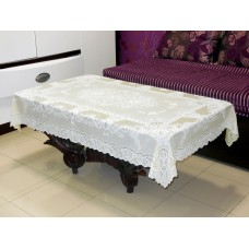 "36"" x 54"" Fancy Lace Vinyl Centre Tablecloth (Lemon)"