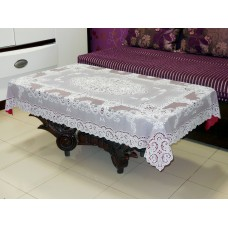 "36"" x 54"" Fancy Lace Vinyl Centre Tablecloth (Maroon)"