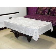 "36"" x 54""Fancy Lace Vinyl Centre Tablecloth (Peach)"