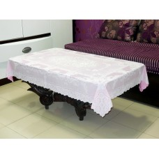 "36"" x 54"" Fancy Lace Vinyl Tablecloth (Pink)"