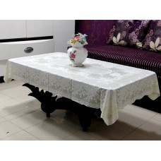 "36"" x 54"" Rose Lace Vinyl Tablecloth (Lemon)"