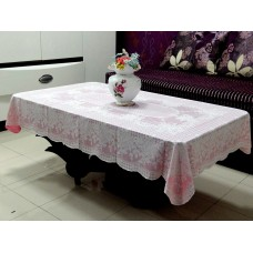 "36"" x 54"" Rose Lace Vinyl Tablecloth (Pink)"