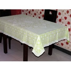 "52"" x 72"" Crosia Lace Vinyl Dining Tablecloth (Pista Green)"