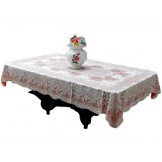 "36"" x 54"" Rose Lace Vinyl Tablecloth (Copper)"