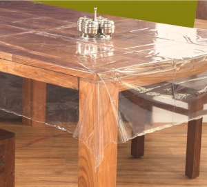 "60"" x 108"" (Rectangle) Clear Transparent Dining Table Cover"