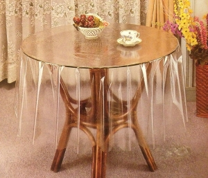 "60"" (Diameter) Clear Transparent Round Table Cover"