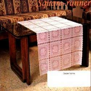 Transparent With Lace Border Table