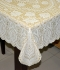 "36"" x 54"" Crosia Lace Vinyl Centre Tablecloth (Beige)"