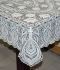 "36"" x 54"" Crosia Lace Vinyl Centre Tablecloth (Brown)"