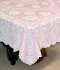 "36"" x 54"" Crosia Lace Vinyl Centre Tablecloth (Pink)"