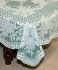 "36"" x 54"" Rose Lace Vinyl Tablecloth (Dark Green)"